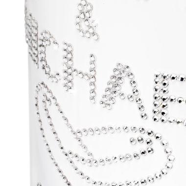 Geschenk Hochzeit personalisiert mit Swarovski Kristallen Sekt Flasche 1,5l  Motiv  LENA & MICHAEL – Bild 2