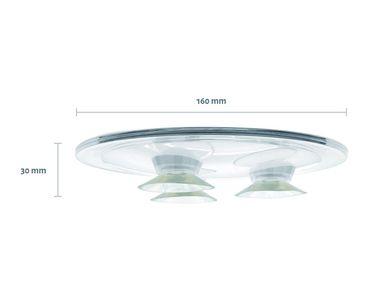 Aufsatzspiegel NELLY von SANWOOD 5-fache Vergrößerung Farbe: transparent Kosmetikspiegel Schminkspiegel  – Bild 3