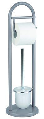 WC-Kombi-Bürstengarnitur Modell: VINTAGE in grau von SANWOOD