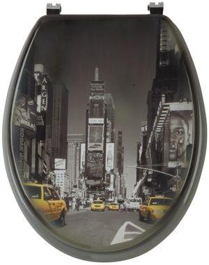 WC-Sitz Motiv: NEW YORK mit Absenkautomatik von SANWOOD Toilettenbrille Toilettensitz Klobrille Klodeckel WC-Brille Klo-Sitz – Bild 1