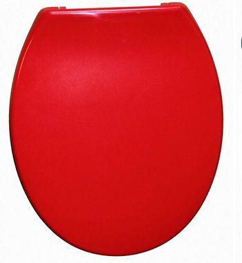 WC-Sitz ELBA rot mit Absenkautomatik Toilettenbrille Toilettensitz Klobrille – Bild 2