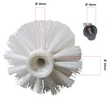 Sanwood 96066299  4er Stück WC Ersatzbürstenkopf Weiß Ersatzbürsten Toilettenbürsten ca: 9,5 x ø 8cm ø Gewinde10mm – Bild 2