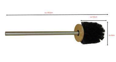 Nicol  3er Set 2232499 Savanna Toilettenbürste schwarz Bürstenkopf mit Edelstahl Griff WC Bürste rostfreie Klobürste - Ersatztoilettenbürste - Ersatzklobürste – Bild 2