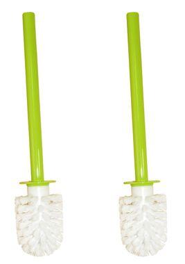 Sanwood  2er Set Aurora grün 7382491 Toilettenbürste Weiß Bürstenkopf mit Acryl Griff Klobürste - Ersatztoilettenbürste - Ersatzklobürste – Bild 1