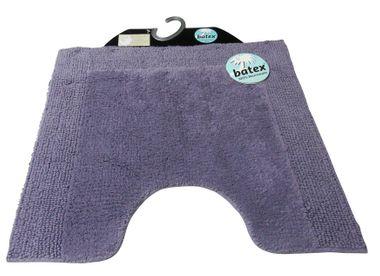Batex WC-Vorleger Duo-Flor lavendel 60X55cm mit Ausschnitt WC Teppich