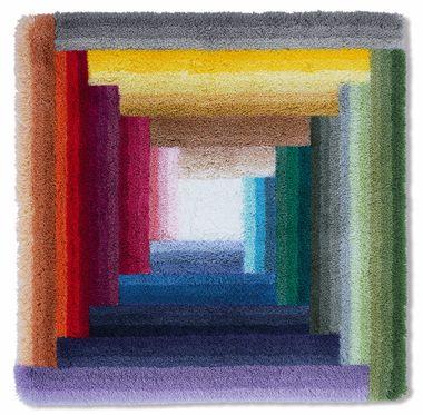 Batex Badteppich  WC-Vorleger brillant mehrfarbig ca.60X60cm   – Bild 2
