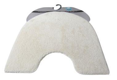 Batex Badteppich  WC-Vorleger mit Ausschnitt Duo cotton  oval 55x60cm natur
