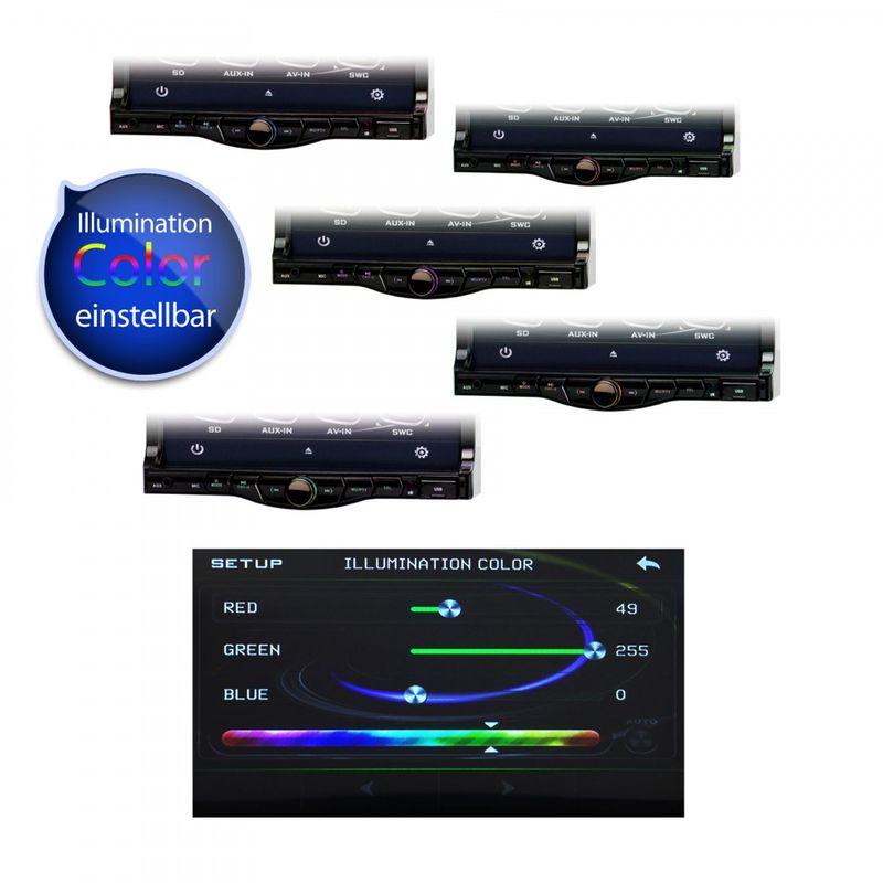"XOMAX XM-DTSB7010 18cm/7"" DVD-Moniceiver Autoradio BLUETOOTH – Bild 6"