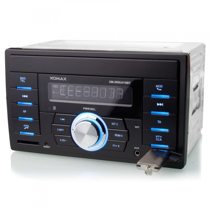 XOMAX XM-2RSU418BT FlashXO USB SD Autoradio ohne CD-Laufwerk mit BLUETOOTH (B-Ware) – Bild 4
