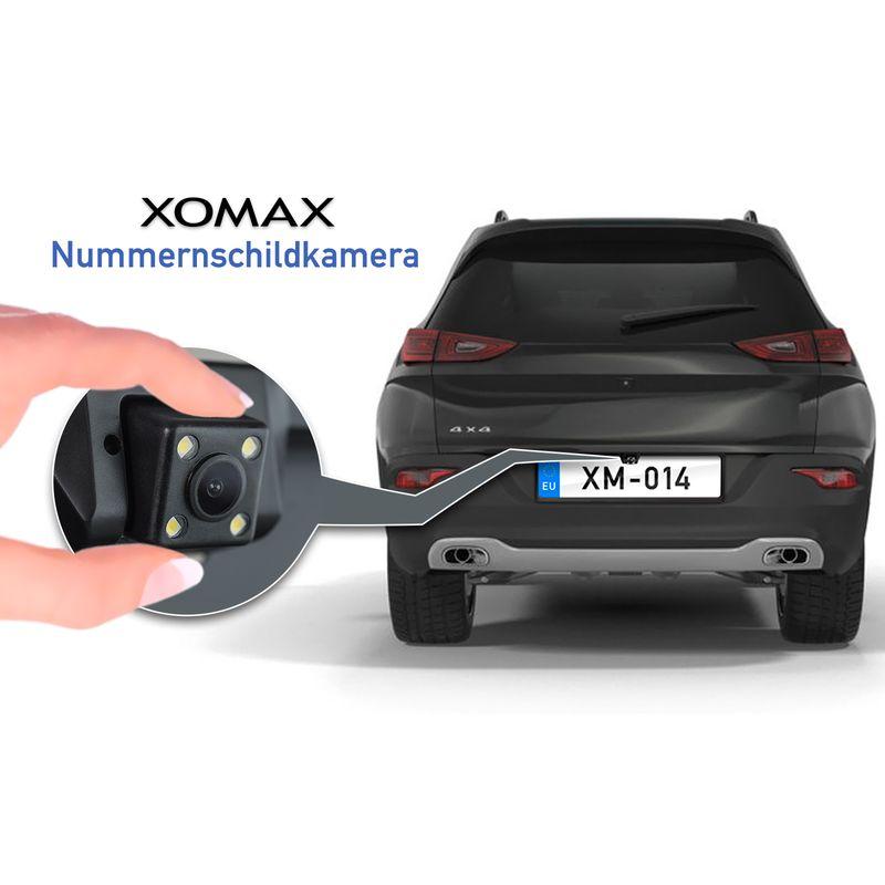 XOMAX XM-014 Rückfahrkamera mit Nummerschild-Halterung – Bild 2
