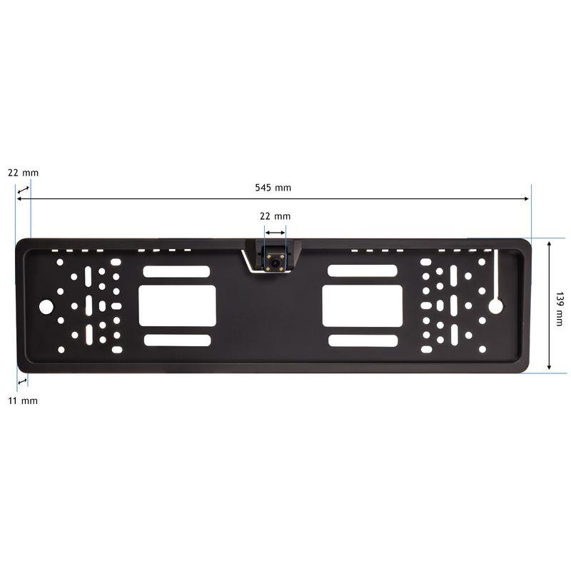 XOMAX XM-014 Rückfahrkamera mit Nummerschild-Halterung (B-Ware) – Bild 1