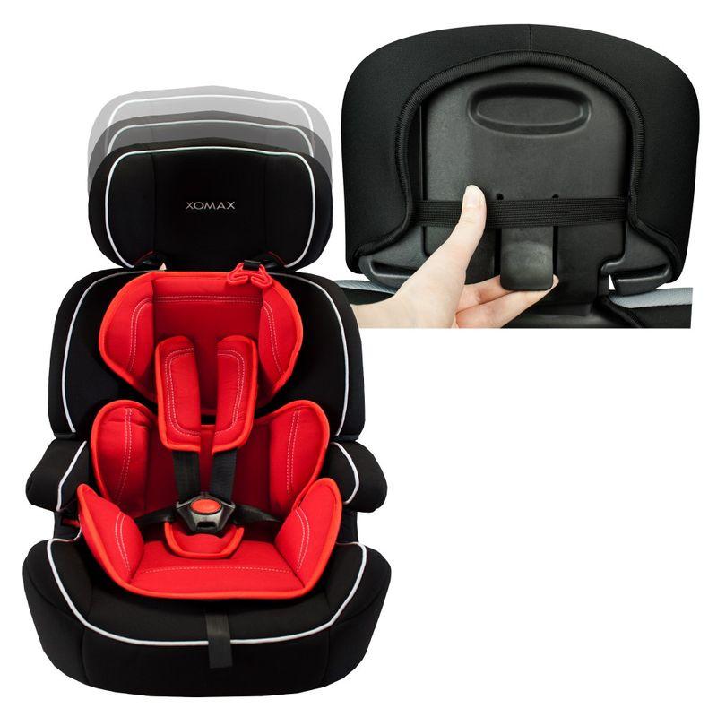 Auto Kindersitz / Sitzerhöhung (Schwarz/Rot) für Kinder von 9 - 36 kg (Klasse I, II, III) – Bild 5