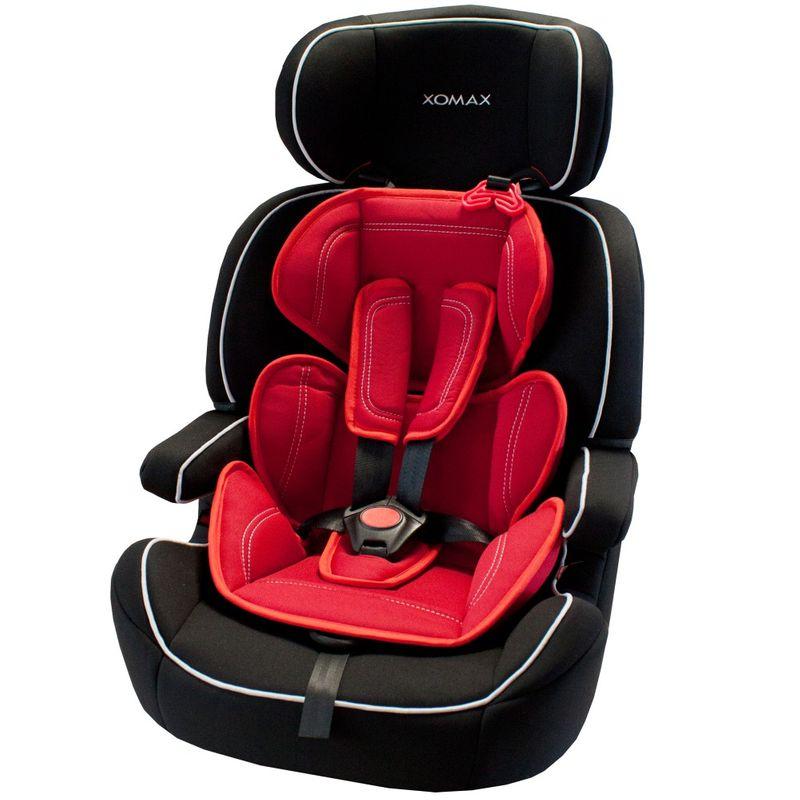 Auto Kindersitz / Sitzerhöhung (Schwarz/Rot) für Kinder von 9 - 36 kg (Klasse I, II, III) – Bild 2