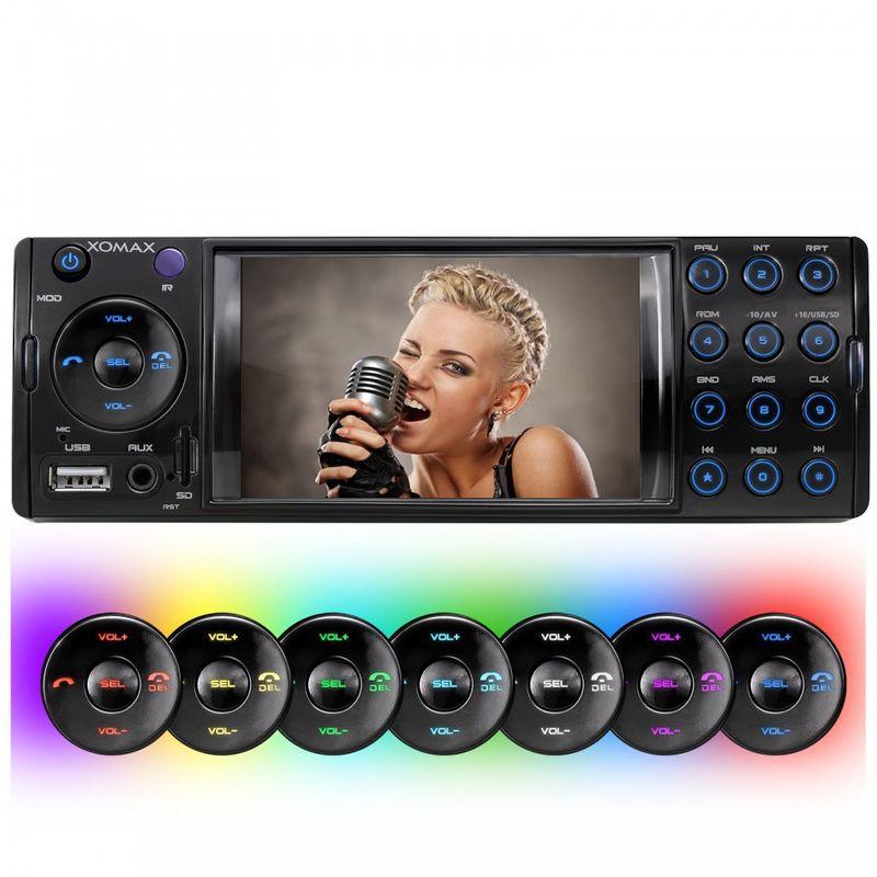 XOMAX XM-VRSU413BT 1 DIN Moniceiver Autoradio ohne CD-Laufwerk mit BLUETOOTH (B-Ware) – Bild 2