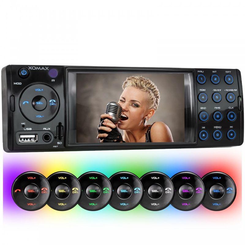 XOMAX XM-VRSU413BT 1 DIN Moniceiver Autoradio ohne CD-Laufwerk mit BLUETOOTH v2