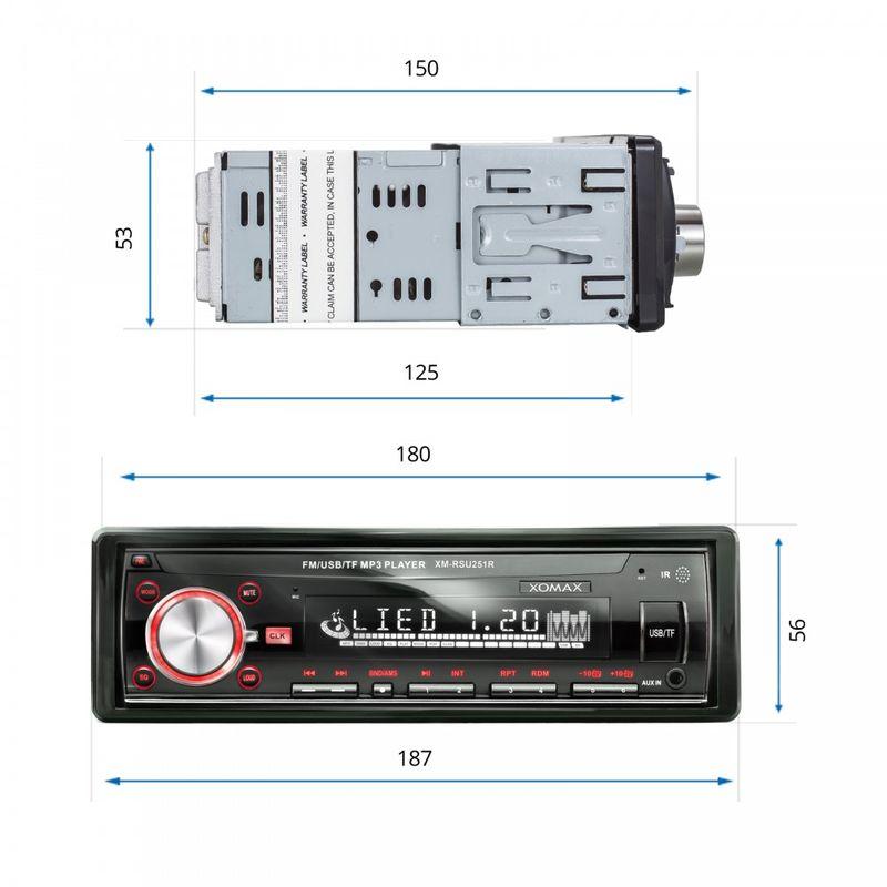 XOMAX XM-RSU251R FlashXO USB SD Autoradio ohne Laufwerk (B-Ware) – Bild 2