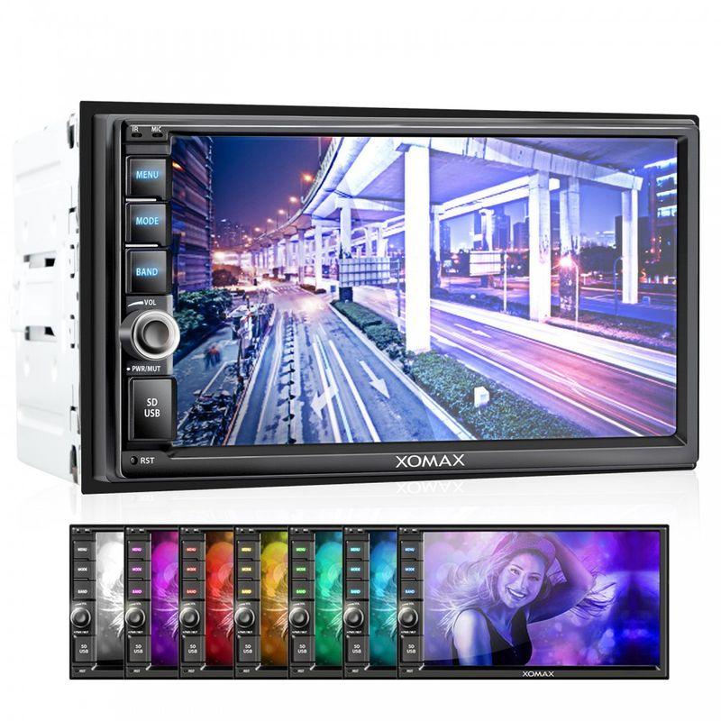 """XOMAX XM-2VRSU732BT 18cm/7"""" Autoradio ohne CD-Laufwerk mit Bluetooth und 7 Beleuchtungsfarben (B-Ware) – Bild 8"""