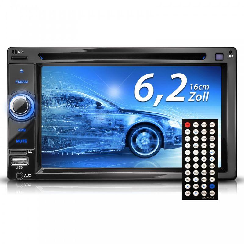 "XOMAX XM-2DTSB6219BT 16cm/6,2"" 2DIN DVD-Moniceiver Autoradio BLUETOOTH – Bild 2"