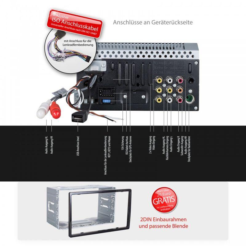 "XOMAX XM-2DTSB6219BT 16cm/6,2"" 2DIN DVD-Moniceiver Autoradio BLUETOOTH – Bild 6"