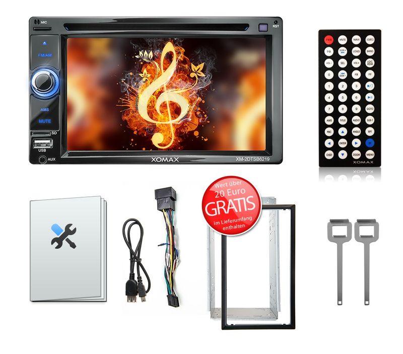 "XOMAX XM-2DTSB6219BT 16cm/6,2"" 2DIN DVD-Moniceiver Autoradio BLUETOOTH (B-Ware) – Bild 8"