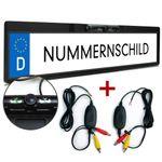XOMAX XM-KL001 Rückfahrkamera-Set/Funk-Videotransmitter + XM-014 Rückfahrkamera mit Nummerschild-Halterung - SET  001