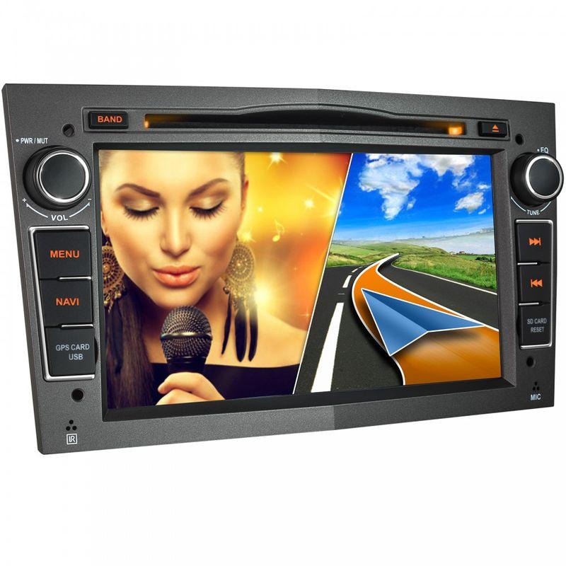 """XOMAX XM-01L: 18cm/7"""" Naviceiver Autoradio mit DVD-Laufwerk und BLUETOOTH – Bild 1"""