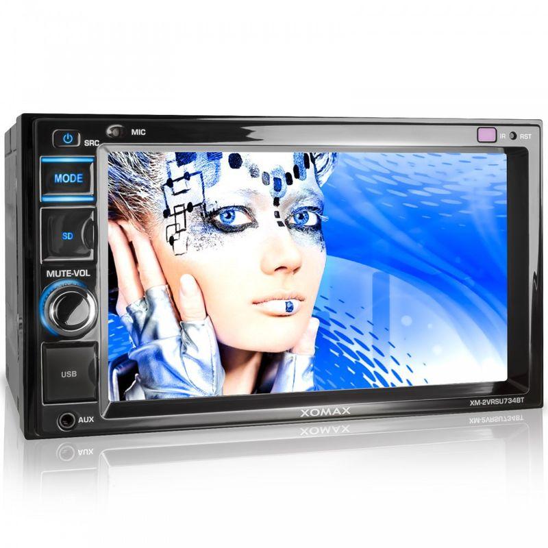 """XOMAX XM-2VRSU734BT 16cm/6,2"""" Autoradio ohne CD-Laufwerk mit Bluetooth, SD und USB (B-Ware) – Bild 1"""