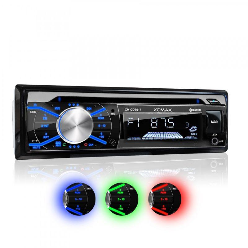 XOMAX XM-CDB617 USB SD Autoradio mit CD-Laufwerk und Bluetooth-Freisprecheinrichtung (B-Ware) – Bild 1