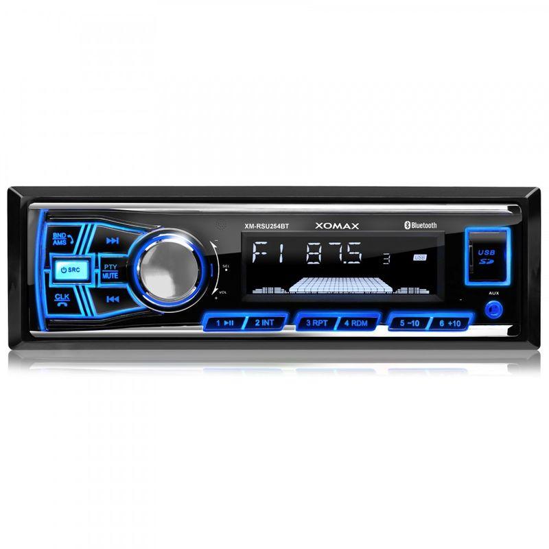 XOMAX XM-RSU254BT FlashXO USB SD Autoradio ohne Laufwerk mit Bluetooth-Freisprecheinrichtung (B-Ware) – Bild 2