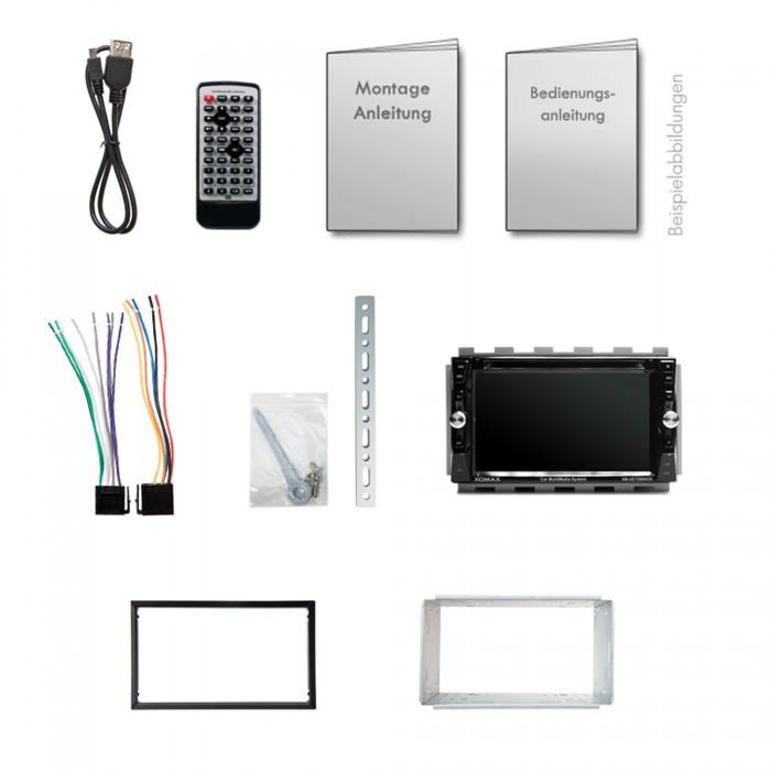 "XOMAX XM-2DTSB6209 15,7cm/6,2"" DVD-Moniceiver Autoradio BLUETOOTH (C-Ware) – Bild 6"