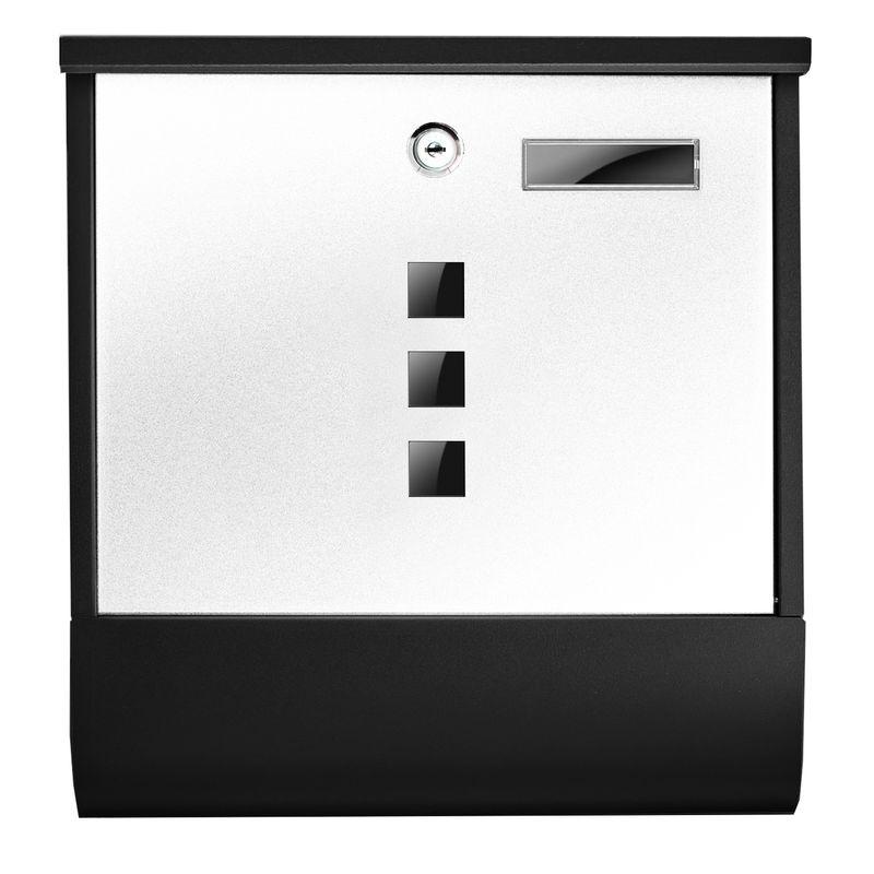 TÄGA TG-2216 Designer Edelstahl Matt Briefkasten Farbe weiß-anthrazit – Bild 2