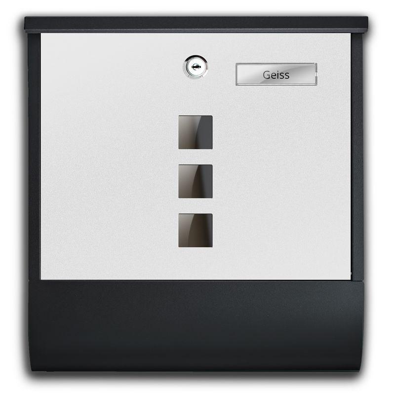 TÄGA TG-2216 Designer Edelstahl Matt Briefkasten Farbe weiß-anthrazit (B-Ware) – Bild 5
