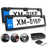 XOMAX XM-016P Farb Rückfahrkamera Set mit Kennzeichenhalterung (vorne und hinten) inkl. Anschlussbox 001