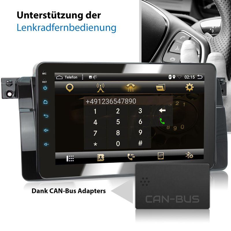 XOMAX XM-46BA: 2DIN Autoradio mit Android 8.1 Navi 8 Zoll Touchscreen Monitor, Bluetooth, USB (passend für BMW E46)  – Bild 8