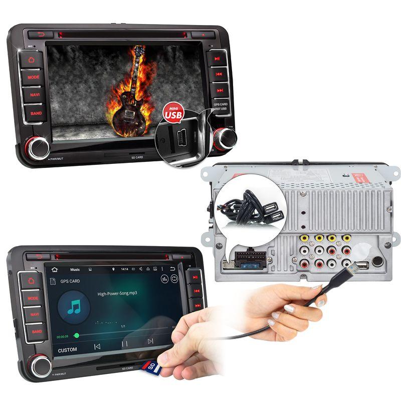 XOMAX XM-07GA: 2DIN Navi Autoradio mit Android 5.1, 7 Zoll Touchscreen Monitor, Bluetooth, SD und USB (B-Ware) – Bild 2
