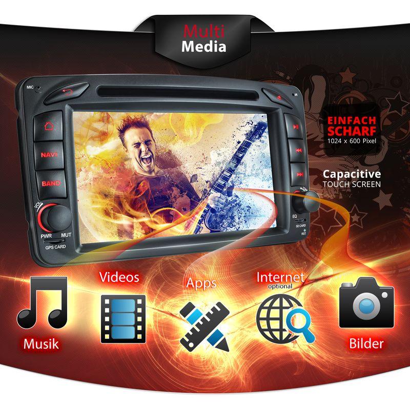 XOMAX XM-04ZA: 2DIN Navi Autoradio mit Android 5.1, 7 Zoll Touchscreen Monitor, Bluetooth, SD und USB (B-Ware) – Bild 2
