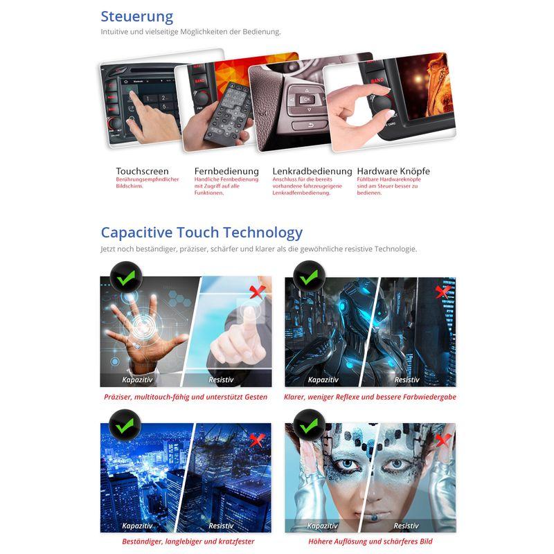 XOMAX XM-04ZA: 2DIN Navi Autoradio mit Android 5.1, 7 Zoll Touchscreen Monitor, Bluetooth, SD und USB (B-Ware) – Bild 9