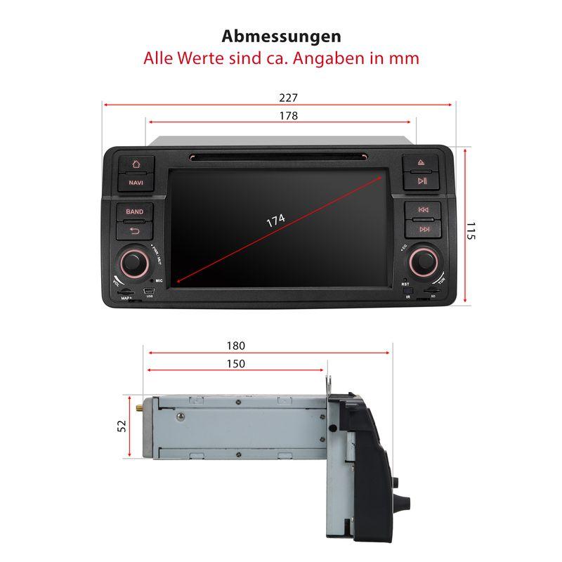 """XOMAX XM-46BA: Autoradio mit Android 5.1 Navigation DVD CD 7""""/18cm Touchscreen Bildschirm, Bluetooth, SD USB (passend für BMW) (B-Ware) – Bild 9"""