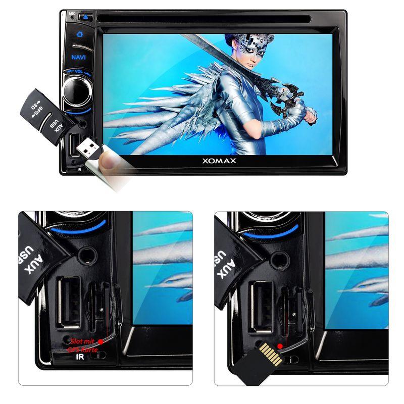 XOMAX XM-2DTSBN6222 2DIN Autoradio mit Navigation und Bluetooth (B-Ware) – Bild 3