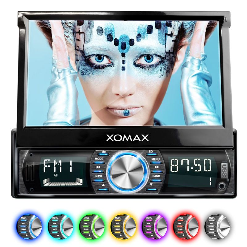 XOMAX XM-VRSUA739: 1DIN Autoradio mit Android 5.1 Navi 7 Zoll Touchscreen Monitor, Bluetooth, SD und USB (B-Ware) – Bild 2