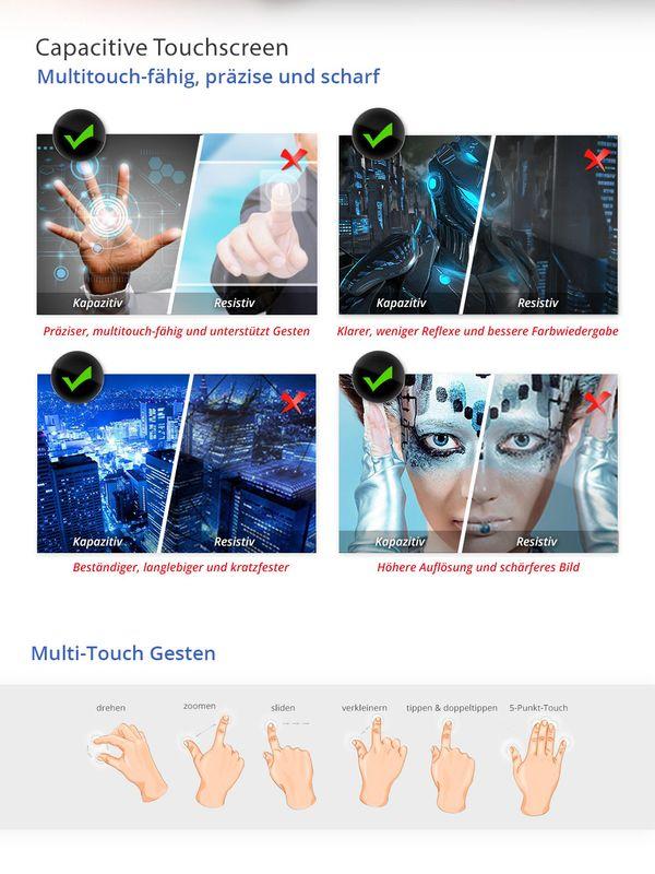 XOMAX XM-2VA701 L1: 2DIN Autoradio mit Android 6.0.1 Navi 7 Zoll Touchscreen Monitor, Bluetooth, SD und USB (B-Ware)  – Bild 3