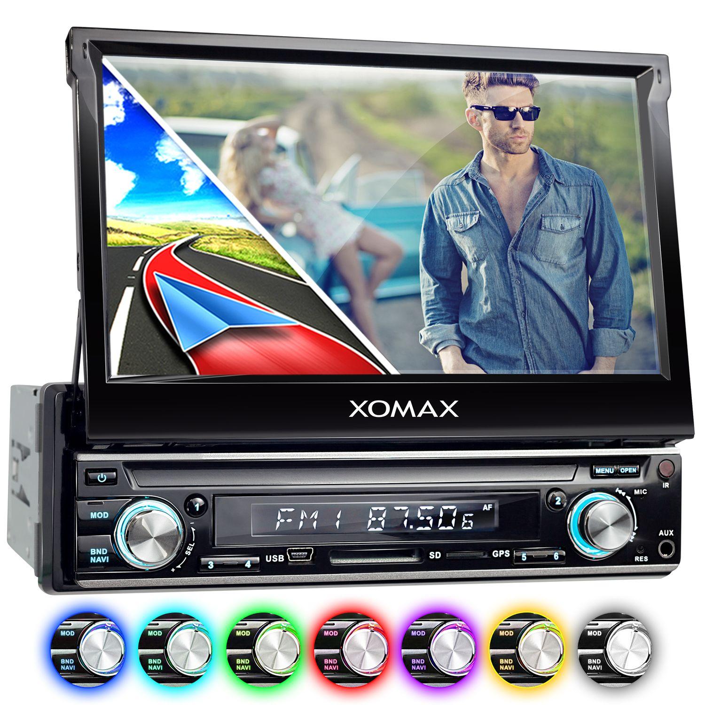 xomax xm vrsun740bt 18cm 7 naviceiver autoradio ohne cd. Black Bedroom Furniture Sets. Home Design Ideas