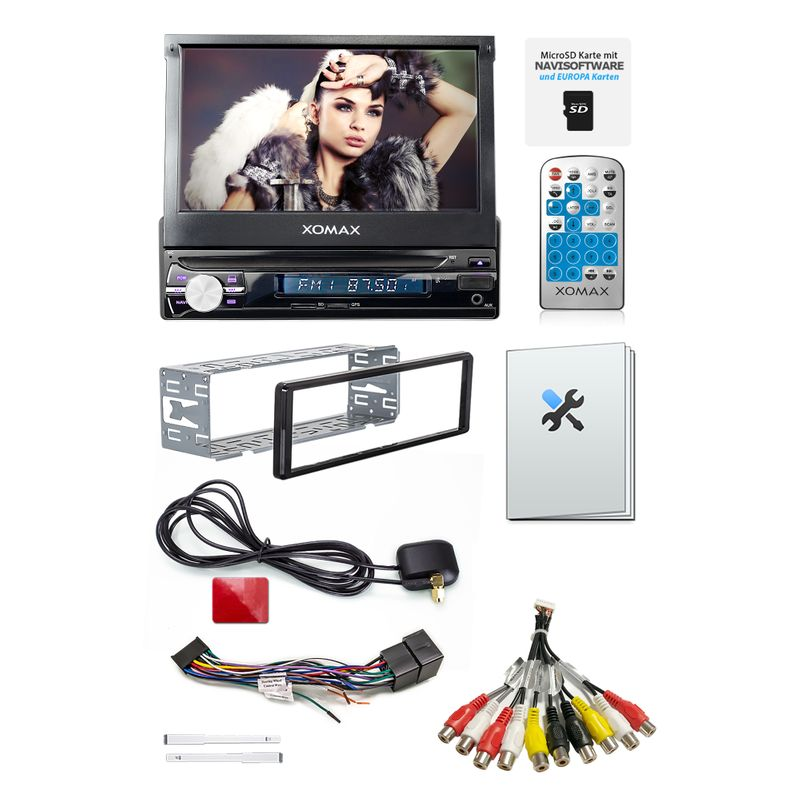 """XOMAX XM-VRSUN741BT 18cm/7"""" Naviceiver Autoradio ohne CD-Laufwerk mit BLUETOOTH – Bild 6"""