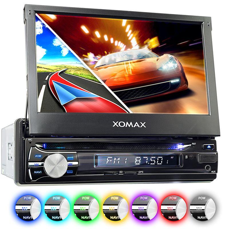 XOMAX XM-DTSBN933 Navi Autoradio mit DVD, USB, GPS und BLUETOOTH – Bild 1