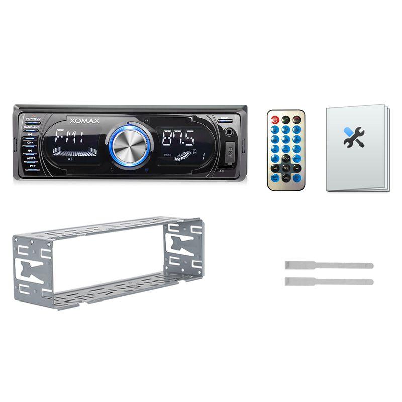XOMAX XM-RSU260BT FlashXO USB SD Autoradio ohne Laufwerk mit Bluetooth – Bild 5
