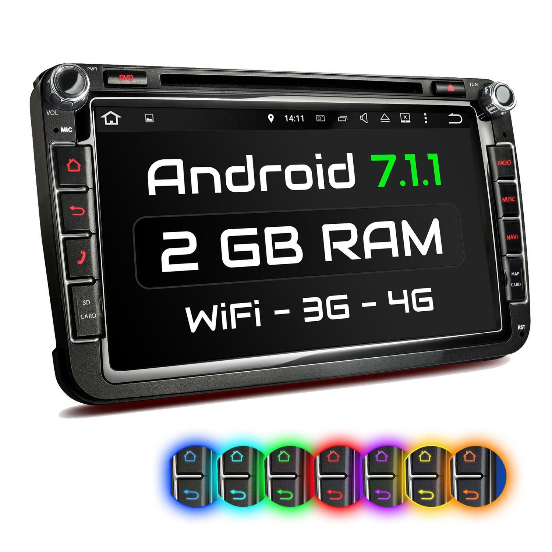 xomax xm 2da801 l2 autoradio mit android 7 1 1 passend f r. Black Bedroom Furniture Sets. Home Design Ideas