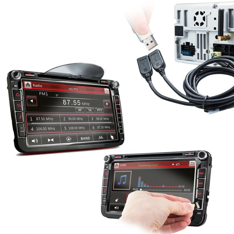 XOMAX XM-2DA801 L2 AUTORADIO MIT ANDROID 7.1.1 PASSEND FÜR VW SKODA SEAT NAVIGATION DVD USB SD – Bild 6