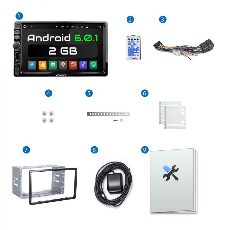 XOMAX XM-2VRSUA744 L3: 2DIN Android 6.0.1 Navi Autoradio mit 7 Zoll Touchscreen Monitor, Bluetooth, SD und USB – Bild 10