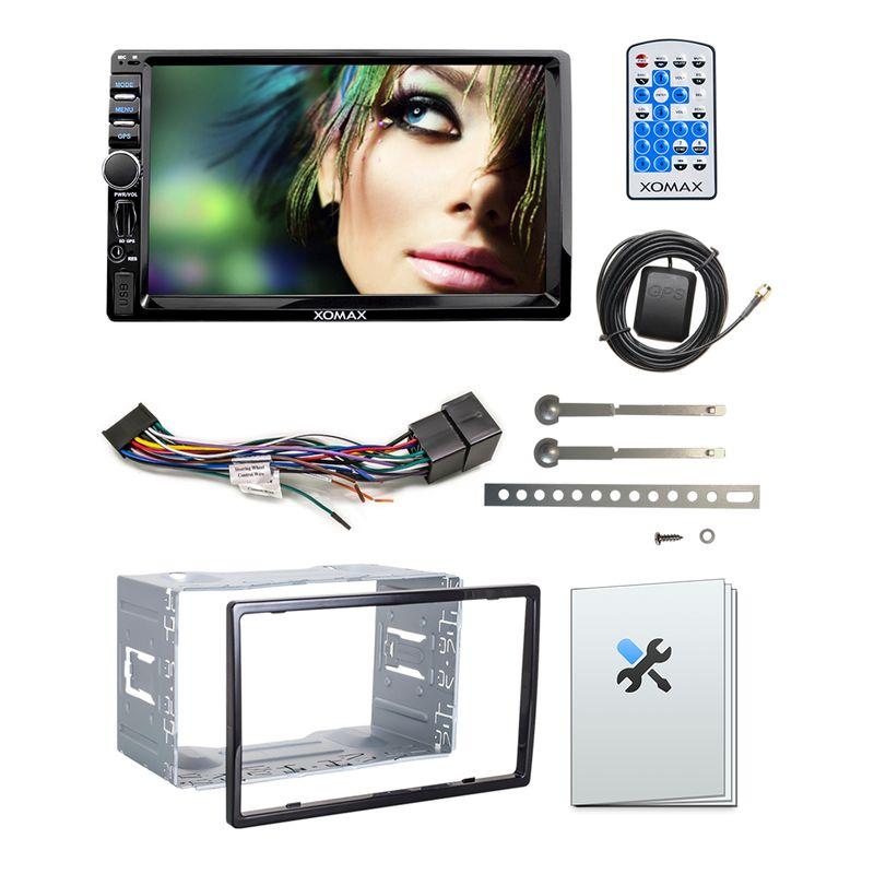 XOMAX XM-2VRSUA744: 2DIN Autoradio mit Android 5.1 Navi 7 Zoll Touchscreen Monitor, Bluetooth, SD und USB (B-Ware) – Bild 3