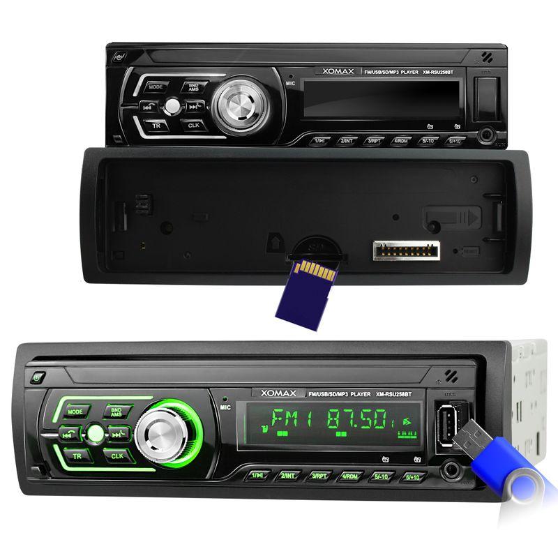XOMAX XM-RSU258BT USB SD Autoradio ohne CD-Laufwerk und Bluetooth-Freisprecheinrichtung – Bild 3